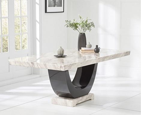 Rivilino 200cm Cream Marble Dining Table