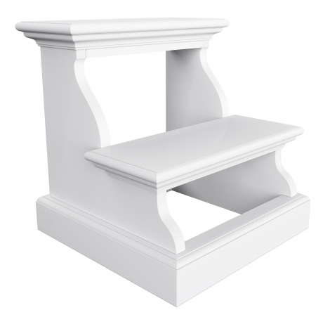 Nova Solo, Halifax Pure White Painted Bed Step