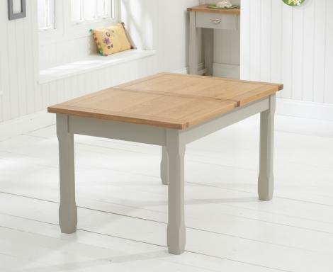 Sandringham Oak & Grey Painted Dining Table -130cm Extending