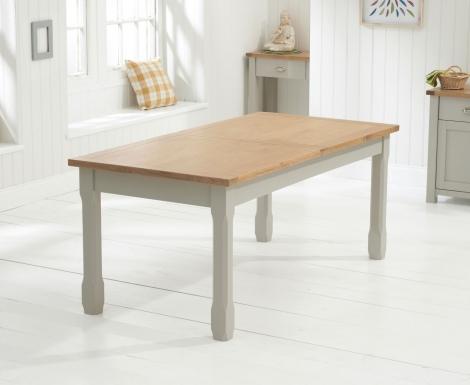 Sandringham Oak & Grey Painted Dining Table -180cm Extending