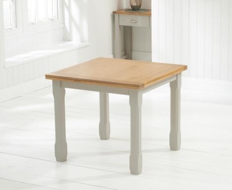 Sandringham Oak & Grey Painted Dining Table - 90cm Square Flip Top