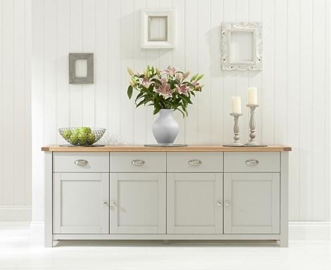 Sandringham Oak & Grey Sideboard XL