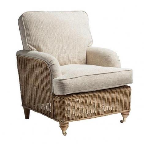Desser, Seville, Light Oak, Cane Arm Chair
