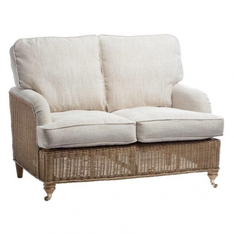 Desser, Seville, Light Oak, Cane 2 Seater Sofa