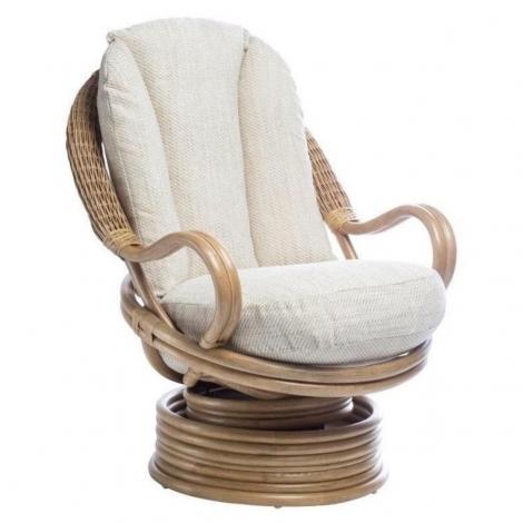 Desser, Madrid, Light Oak, Deluxe, Cane Swivel Rocking Chair