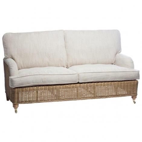 Desser, Seville, Light Oak, Cane 3 Seater Sofa