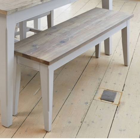Autograph Grey Painted Small Dining Bench - 130cm
