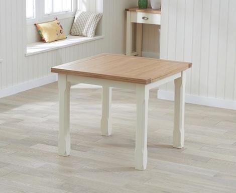 Sandringham Oak and Cream Dining Table - 90cm Flip Top