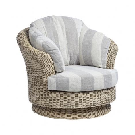Desser, Samford, Natural Wash, Cane Lyon Swivel Chair
