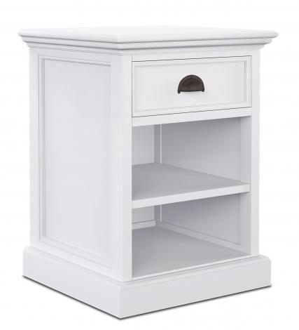 Nova Solo, Halifax Pure White Painted Bedside Table