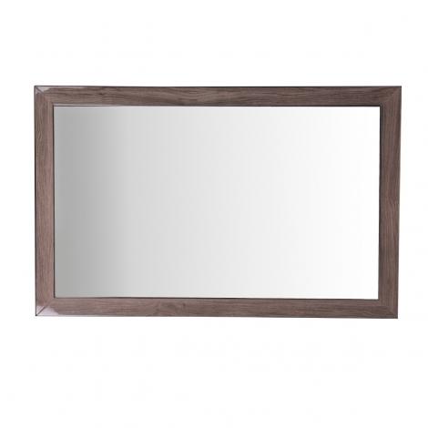 Amelia Wall Mirror In Chestnut High Gloss