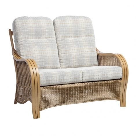 Desser, Turin, Light Oak, Cane 2 Seater Sofa