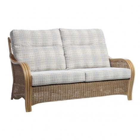 Desser, Turin, Light Oak, Cane 3 Seater Sofa