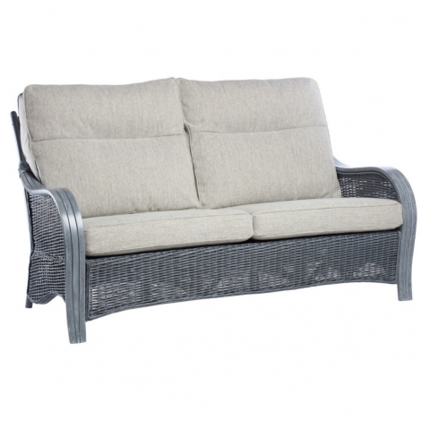 Desser, Turin, Grey Wash, Cane 3 Seater Sofa