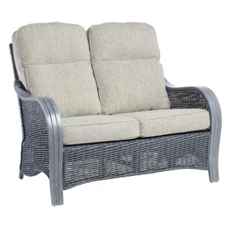 Desser, Turin, Grey Wash, Cane 2 Seater Sofa