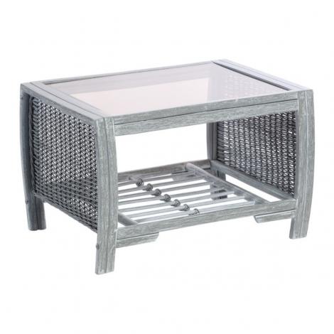 Desser, Turin, Grey Wash, Cane Coffee Table