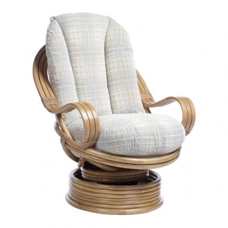 Desser, Turin, Light Oak, Laminated Arm, Cane Swivel Rocker Chair