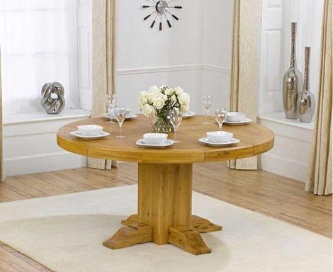 Turin Solid Oak Round Dining Table - 150cm