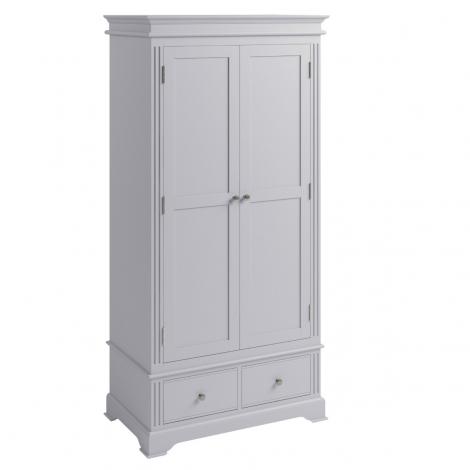 Ashley Soft Grey Painted 2 Door 2 Drawer Wardrobe
