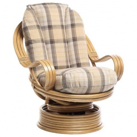 Desser, Opera, Light Oak, Laminated Arm, Cane Rocker Swivel Chair