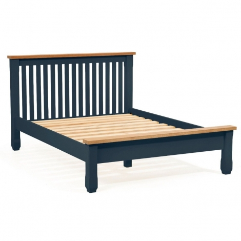 Sandringham Oak And Blue Painted Shaker Bed