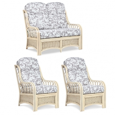 Desser, Vale, Natural Wash, Cane 2 Seater & 2 Chairs