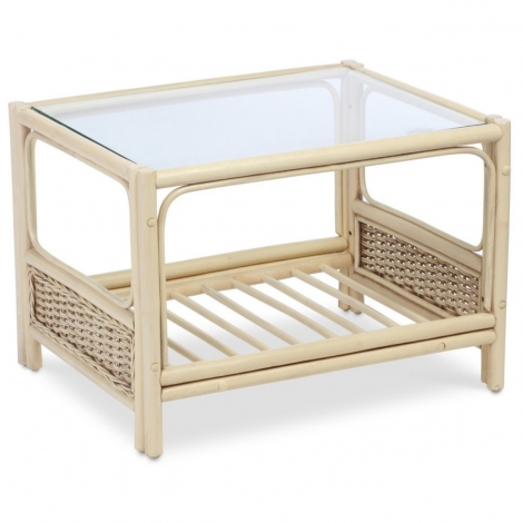 Desser, Vale, Natural Wash, Cane Coffee Table