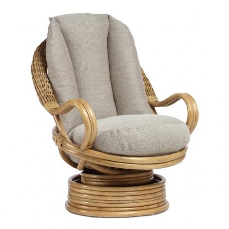 Desser, Viola, Light Oak, Cane Deluxe Rocker Swivel Chair