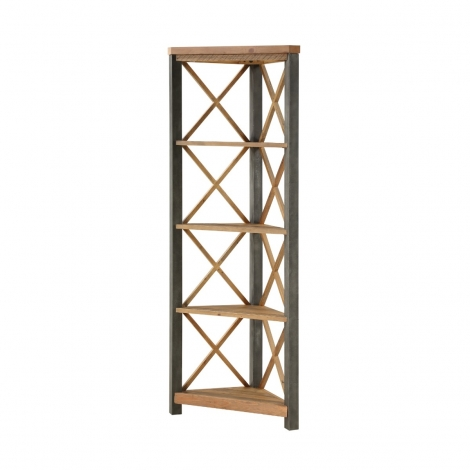 Elegance Reclaimed Large Corner bookcase