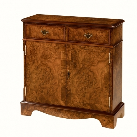 Ashmore Antique Reproduction, Walnut, 2 Drawer, 2 Door Bookcase