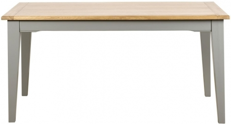 Waterford, 160cm Dining Table, Painted Grey, Oak Tops